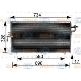 Kondensator, Klimaanlage mit OEM-Nummer 92110-2F005