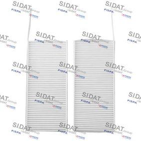 Filter, Innenraumluft Länge: 238mm, Breite: 107mm, Höhe: 20mm mit OEM-Nummer A415 835 11 00