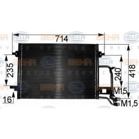 HELLA Kondensator, Klimaanlage 8FC 351 038-681 für AUDI A6 (4B2, C5) 2.4 ab Baujahr 07.1998, 136 PS