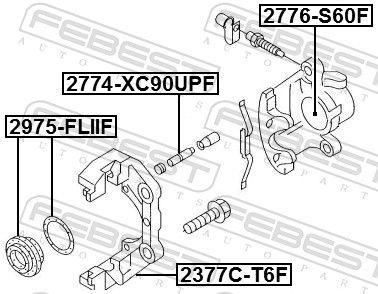 Kolben, Bremssattel FEBEST 2776-S60F Bewertung