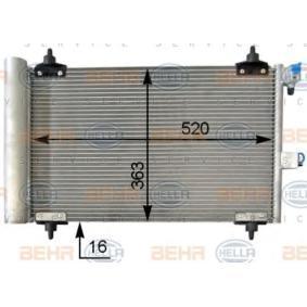 Kondensator, Klimaanlage mit OEM-Nummer 6455 AT
