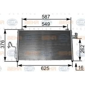 HELLA  8FC 351 301-091 Kondensator, Klimaanlage