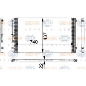 HELLA  8FC 351 301-141 Kondensator, Klimaanlage