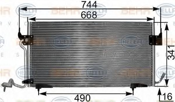 HELLA  8FC 351 301-291 Kondensator, Klimaanlage