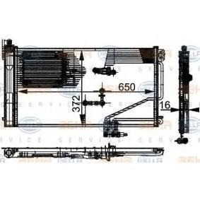 Kondensator, Klimaanlage mit OEM-Nummer A 2035001354