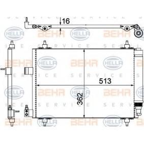 Kondensator, Klimaanlage mit OEM-Nummer 6455-CP