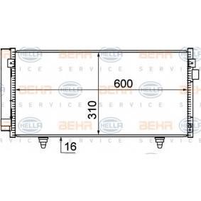 Kondensator, Klimaanlage mit OEM-Nummer 73210 SC000