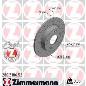 Honda Civic 8 1.8 (FN1, FK2) Wasserpumpe + Zahnriemensatz ZIMMERMANN SPORT COAT Z 280.3186.52 (1.8 (FN1, FK2) Benzin 2007 R18A2)
