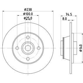 Heat Exchanger, interior heating 8FH 351 308-251 PUNTO (188) 1.2 16V 80 MY 2006