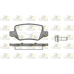 Brake Pad Set, disc brake Height: 41,5mm, Thickness: 14,3mm with OEM Number A 169 420 04 20