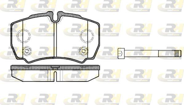 ROADHOUSE  2849.10 Bremsbelagsatz, Scheibenbremse Höhe: 63,8mm, Dicke/Stärke: 20mm