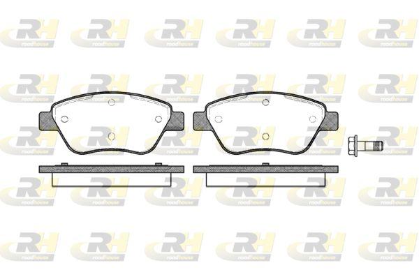 ROADHOUSE  2858.10 Bremsbelagsatz, Scheibenbremse Höhe: 53,3mm, Dicke/Stärke: 17,8mm