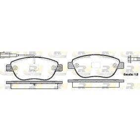 ROADHOUSE  2859.11 Bremsbelagsatz, Scheibenbremse Höhe: 57,5mm, Dicke/Stärke: 19mm