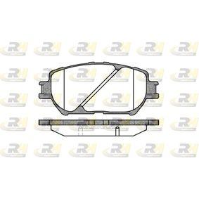 Bremsbelagsatz, Scheibenbremse Höhe: 58,5mm, Dicke/Stärke: 17,5mm mit OEM-Nummer 04465-33320