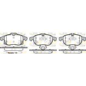 Bremsbelagsatz, Scheibenbremse Höhe 1: 70,7mm, Höhe 2: 69,6mm, Dicke/Stärke: 20,3mm mit OEM-Nummer 93 185 751