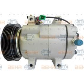 HELLA Kompressor, Klimaanlage 8FK 351 133-521 für AUDI 80 (8C, B4) 2.8 quattro ab Baujahr 09.1991, 174 PS