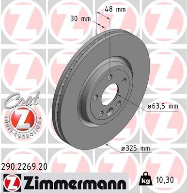 Scheibenbremsen ZIMMERMANN 290.2269.20 Bewertung