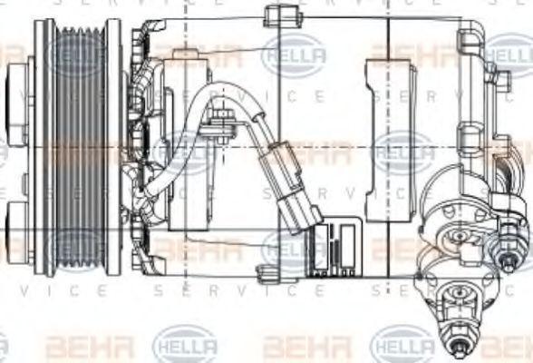 Kältemittelkompressor HELLA 8FK 351 334-391 4045621425388