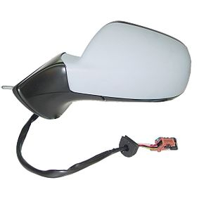 ABAKUS Side view mirror Left, Electric, Blue-tinted, Convex, Electronically foldable, Heated, Primed