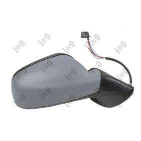 ABAKUS Espejo lateral derecha, eléctrico, abatible eléctricamente, con sensor de temperatura, convexo, térmico, tintado en azul, imprimado