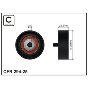 Spannrolle, Keilrippenriemen Breite: 25,5mm mit OEM-Nummer 11281726343