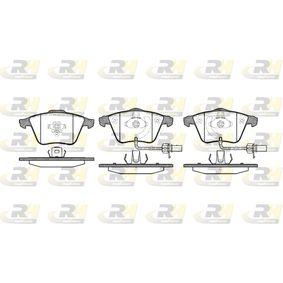 Bremsbelagsatz, Scheibenbremse Höhe: 72,9mm, Dicke/Stärke: 20mm mit OEM-Nummer 8E0698151L