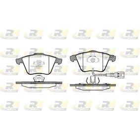 Bremsbelagsatz, Scheibenbremse Höhe: 72,9mm, Dicke/Stärke: 20mm mit OEM-Nummer 1K0 698 151B