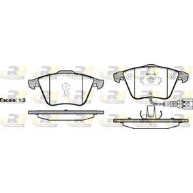 Bremsbelagsatz, Scheibenbremse Höhe: 72,9mm, Dicke/Stärke: 20mm mit OEM-Nummer 8J0698151A
