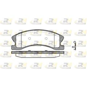 Bremsbelagsatz, Scheibenbremse Höhe: 60,5mm, Dicke/Stärke: 19,3mm mit OEM-Nummer 5093260AA