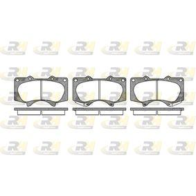 Bremsbelagsatz, Scheibenbremse Höhe: 77,1mm, Dicke/Stärke: 17mm mit OEM-Nummer 04465-35290
