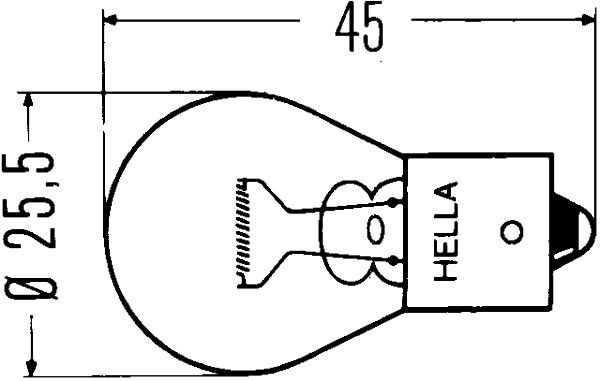 HELLA  8GA 002 073-137 Bulb