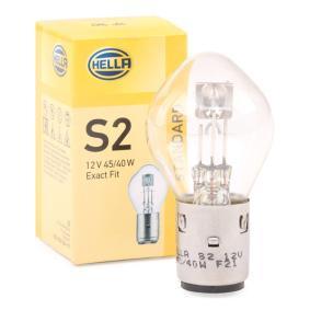 Glühlampe, Hauptscheinwerfer S2, BA20d, 45/40W, 12V 8GD 002 084-151
