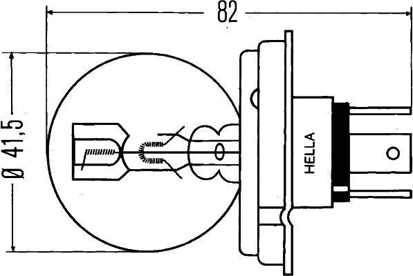 Bulb, headlight HELLA R2 rating