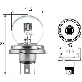 Glühlampe, Hauptscheinwerfer R2 (Bilux), P 45 t, 55/50W, 24V 8GD 002 088-251