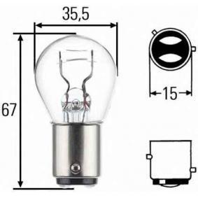 Glühlampe, Brems- / Schlusslicht P21/4W, 12V, Baz15d, 21/4W 8GD 004 772-151