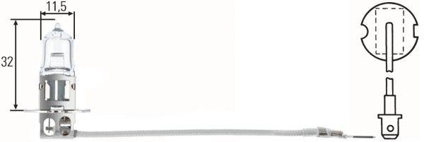 Glühlampe, Hauptscheinwerfer 8GH 002 090-153 HELLA H312V100WCP1 in Original Qualität