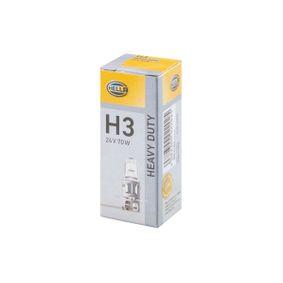 Glühlampe, Fernscheinwerfer H3 24V 70W PK22S Halogen 8GH 002 090-253