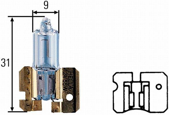 Glühlampe, Fernscheinwerfer 8GH 002 857-121 HELLA H2 in Original Qualität