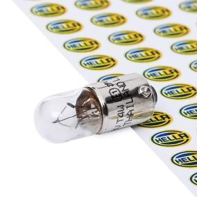Крушка с нагреваема жичка, светлини на рег. номер T4W, BA9s, 12волт, 4ват 8GP 002 067-121 VW GOLF, PASSAT, POLO