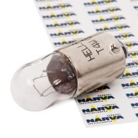 Крушка с нагреваема жичка, мигачи T4W, BA9s, 24волт, 4ват 8GP 002 067-261