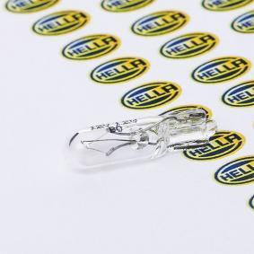 Bulb, instrument lighting W1,2W, W2x4,6d, 1,2W, 12V 8GP 002 095-121 VW GOLF, POLO, PASSAT