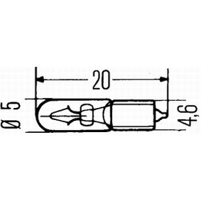 Bulb 8GP 002 095-241 MERCEDES-BENZ T1 Bus, T2, HENSCHEL