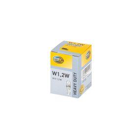 Bulb 24V , W1,2W, W2x4,6d 8GP 002 095-241 MERCEDES-BENZ T1 Bus, T2, HENSCHEL