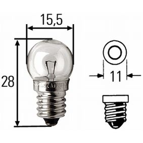 Крушка с нагреваема жичка, мигачи B2,4W, EP 10, 6волт, 2,4ват 8GP 002 096-061