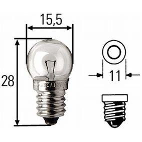 Bulb, indicator B2,4W, EP 10, 6V, 2,4W 8GP 002 096-061