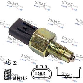 Switch, reverse light Number of Poles: 3-pin connector with OEM Number MD 730979