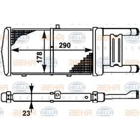 HELLA Kühler, Motorkühlung 8MK 376 714-531 für AUDI 90 (89, 89Q, 8A, B3) 2.2 E quattro ab Baujahr 04.1987, 136 PS