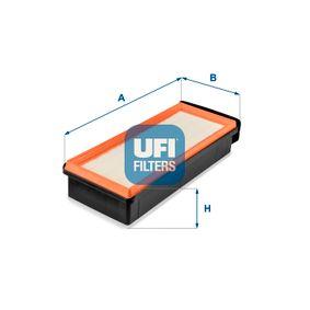 UFI  30.655.00 Luftfilter Länge: 367,0mm, Breite: 148,0mm, Höhe: 79,0mm