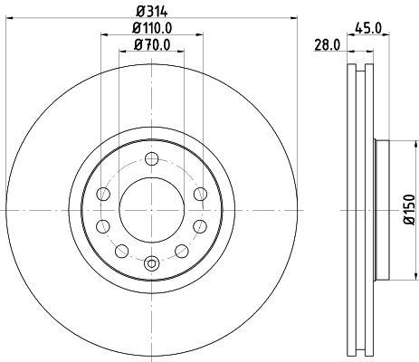 Wasserpumpe 8MP 376 800-001 HELLA 8MP 376 800-001 in Original Qualität