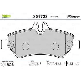 Bremsbelagsatz, Scheibenbremse Breite: 137mm, Höhe: 63,1mm, Dicke/Stärke: 19,8mm mit OEM-Nummer A004 420 69 20